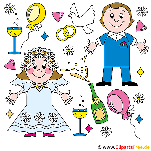 Clip art online wedding for free