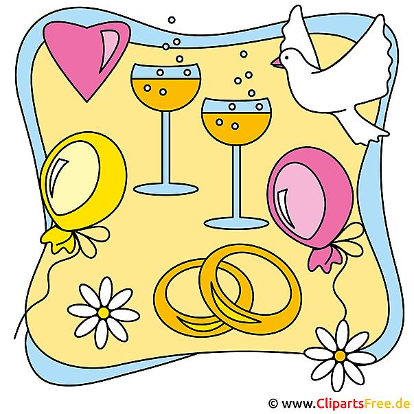 Clip Arts Hochzeit free