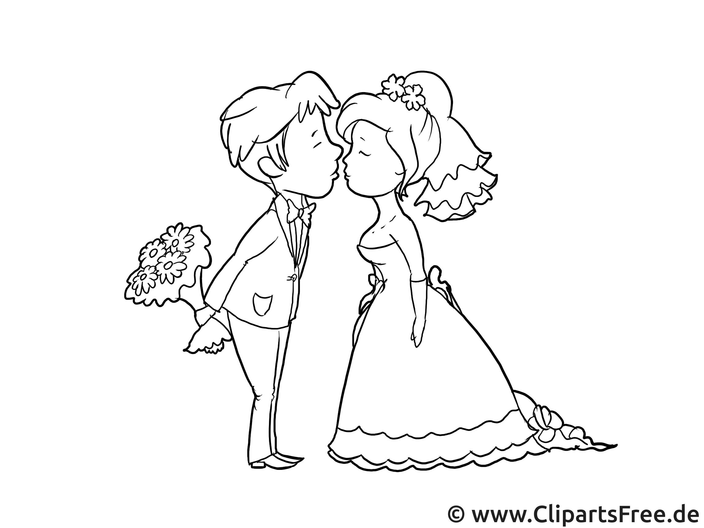 Clipart Brautpaar Zur Hochzeit