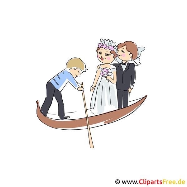 結婚式のゴンドラクリップアート画像