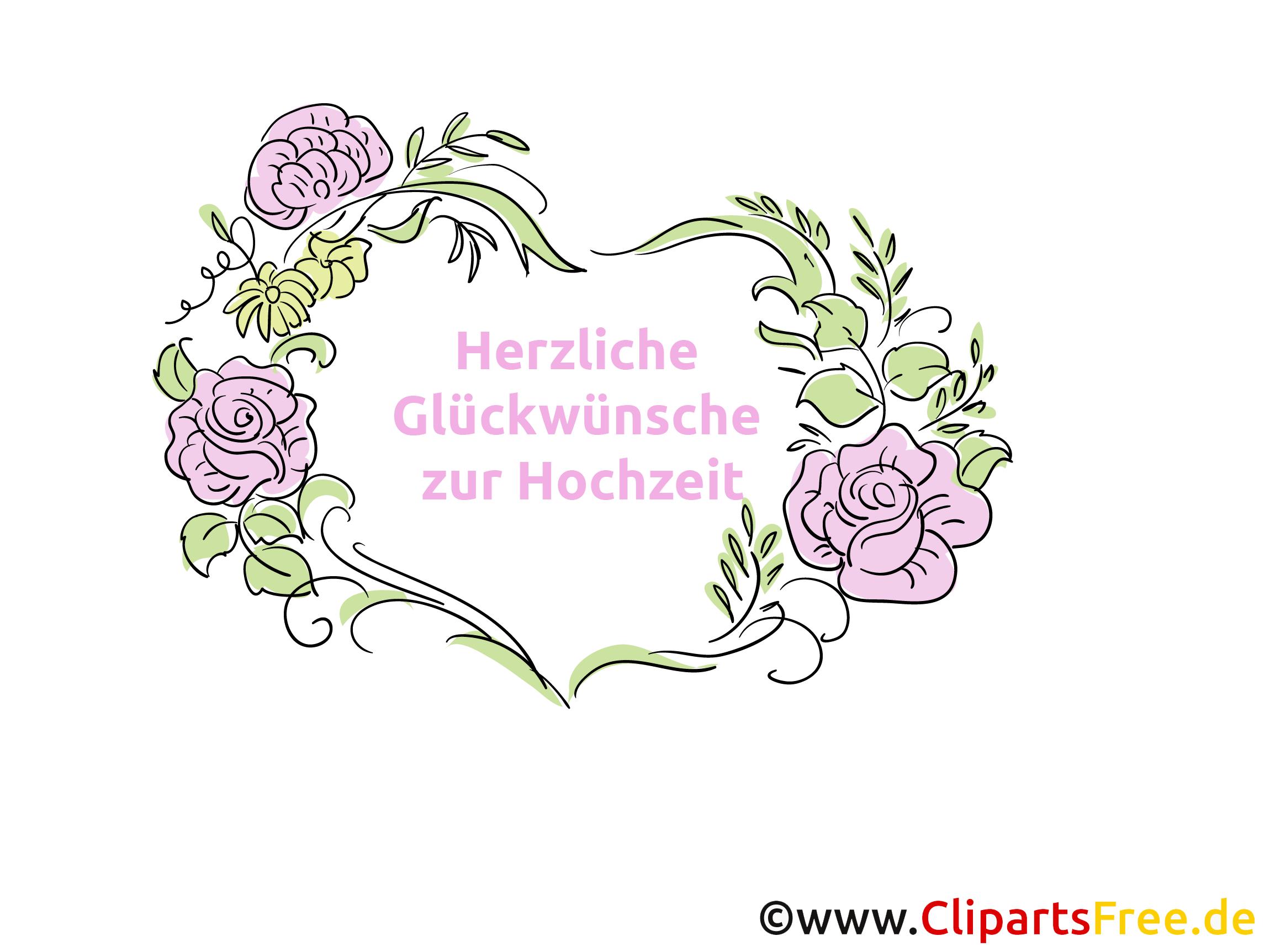 Herzliche Gluckwunsche Zur Hochzeit Clipart Bild Kostenlos