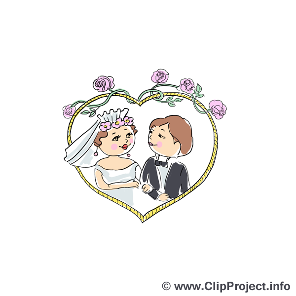 Hochzeit Clipart für Einladungen