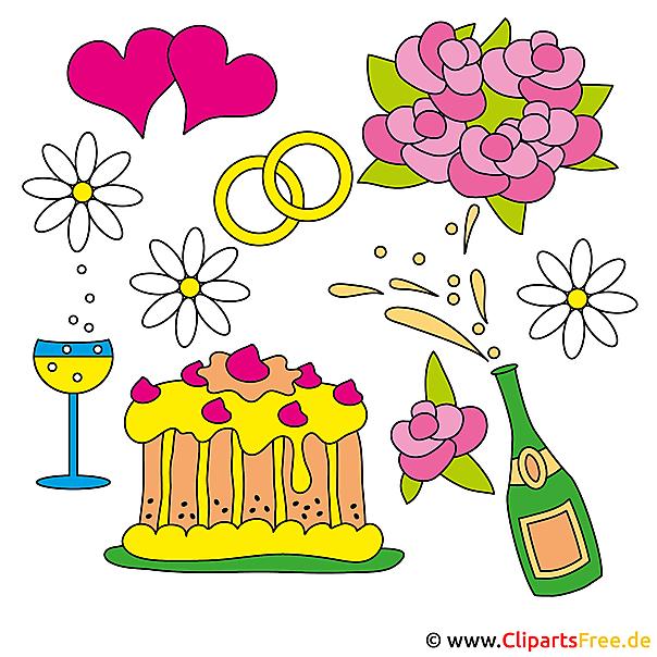 Düğün Temaları Clipart Ücretsiz