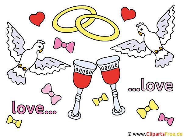結婚指輪とクリップアート