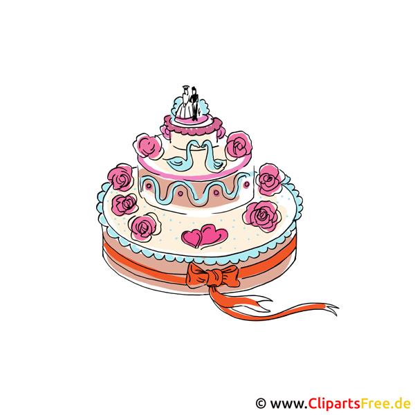 漫画のスタイルのウェディングケーキの写真
