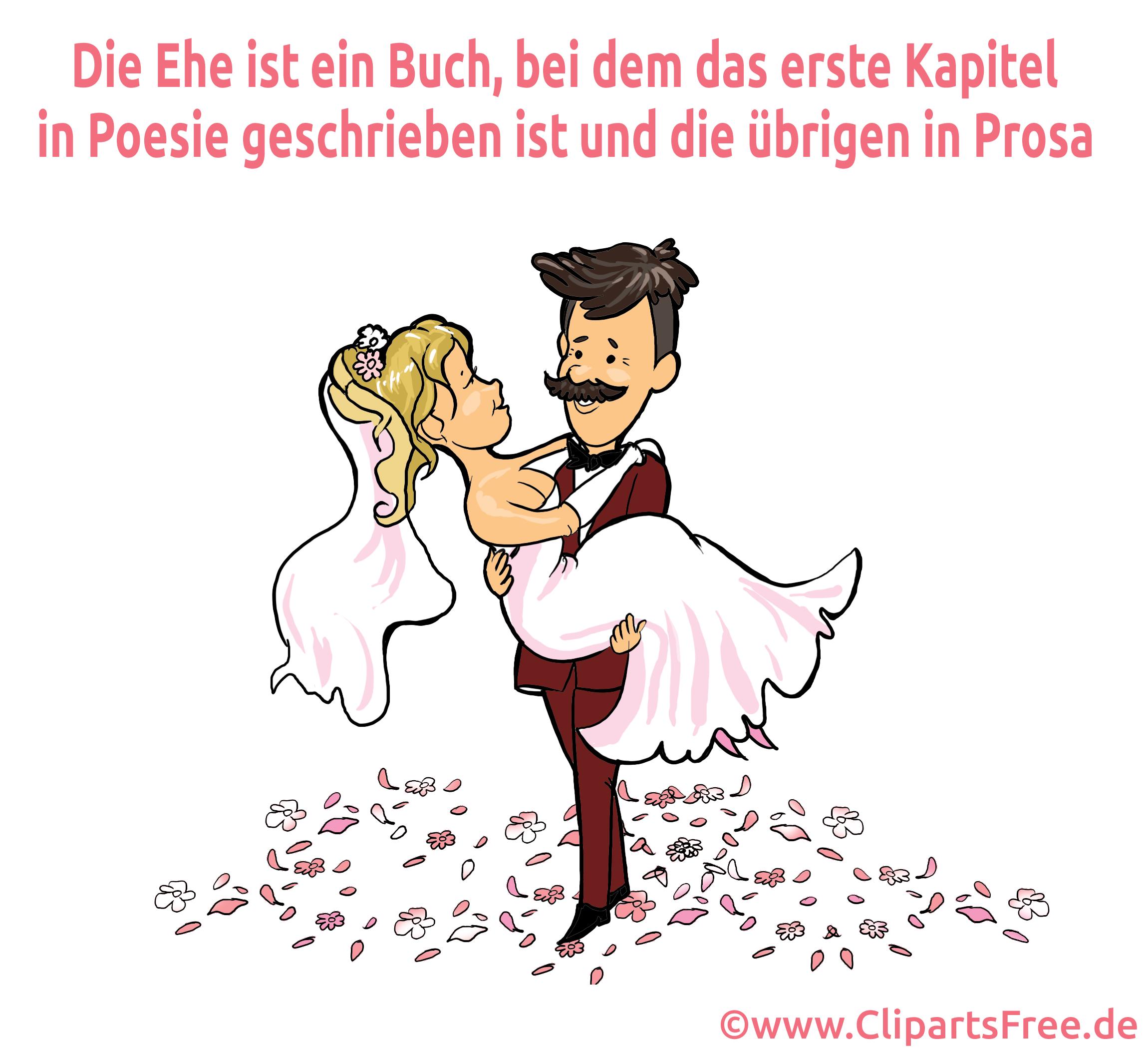 Lustiger Spruch Hochzeit Grußkarte, Glückwunschkarte, eCard gratis