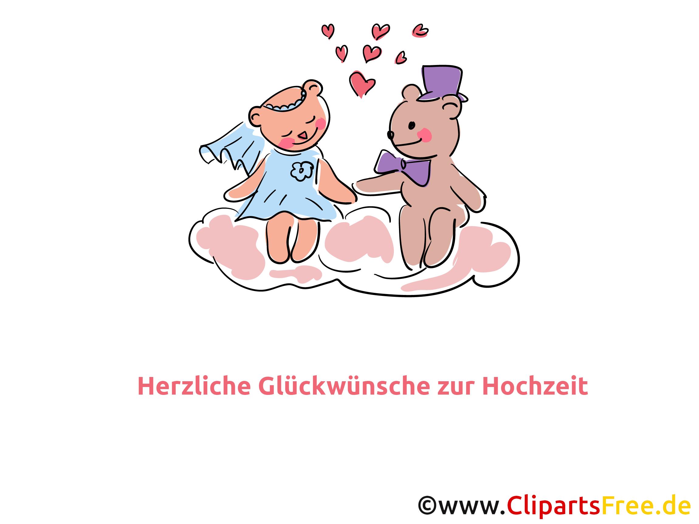 Teddy-Bärchen Bild, Clipart, Cartoon zur Hochzeit