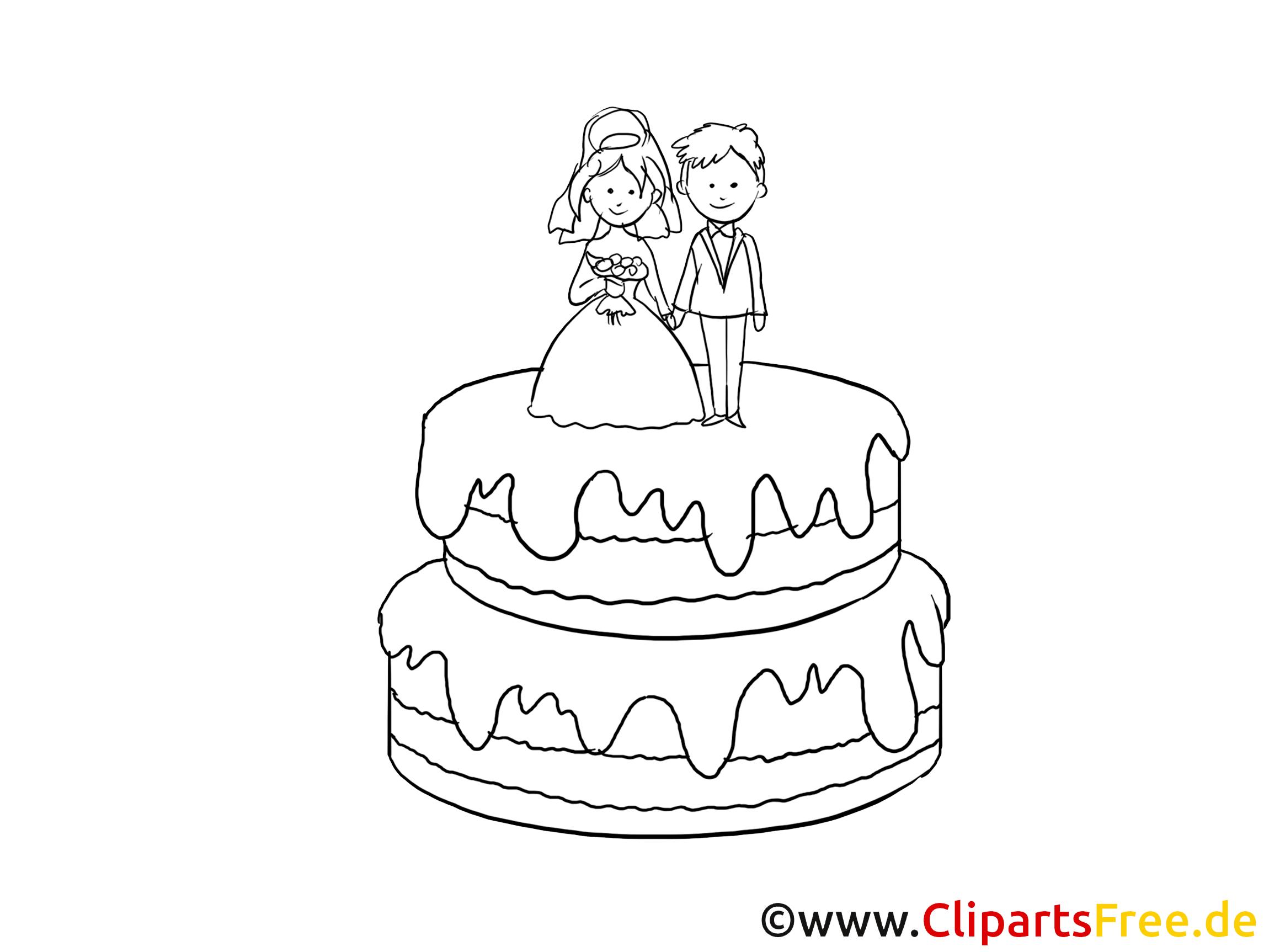 Torte Clipart Schwarz Weiss Gratis
