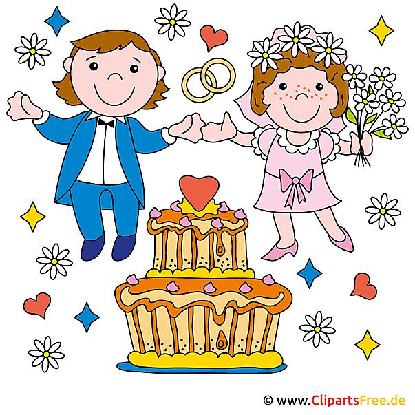 Wedding invitations designe using our free Clip Art