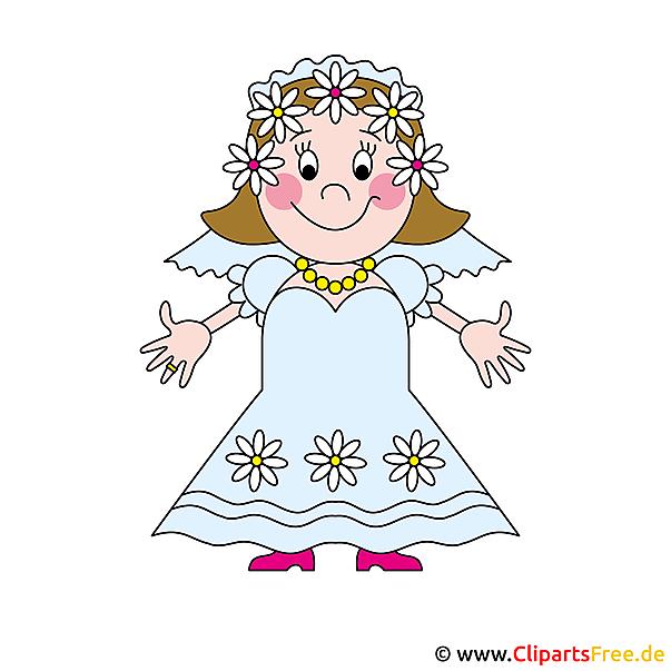 面白いクリップアートの花嫁