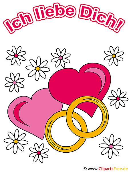 テキストの結婚指輪
