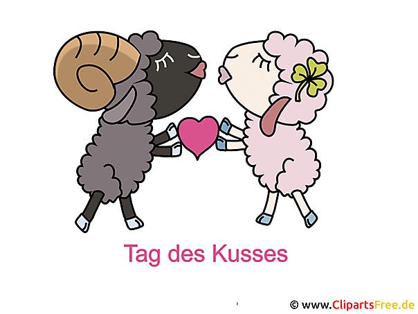 Internationaler Tag des Kusses - Bilder fuer Soziale Netzwerke