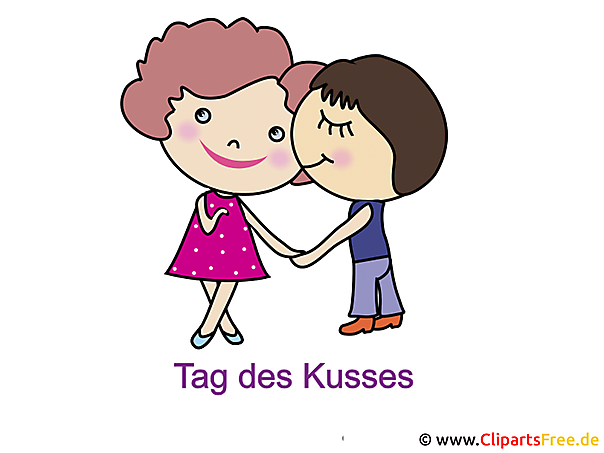 Welt Kuss Tag Clipart-Bild-Illustration