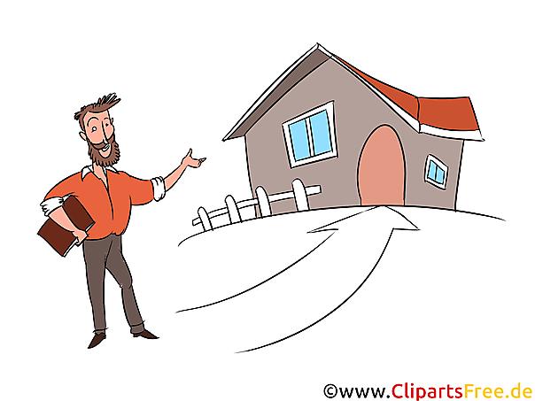 haus kaufen ber makler clipart illustration bild grafik gratis. Black Bedroom Furniture Sets. Home Design Ideas