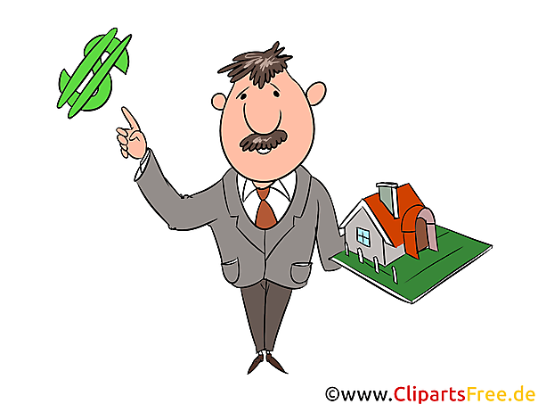 Makler immobilien clipart illustration bild grafik gratis for Makler immobilien
