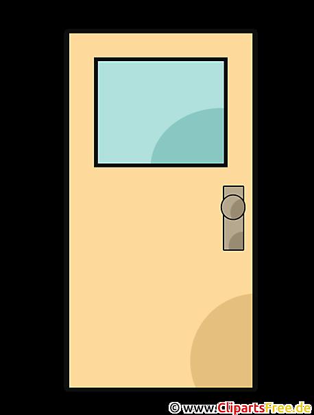 Tür Clipart Schwarz Weiß