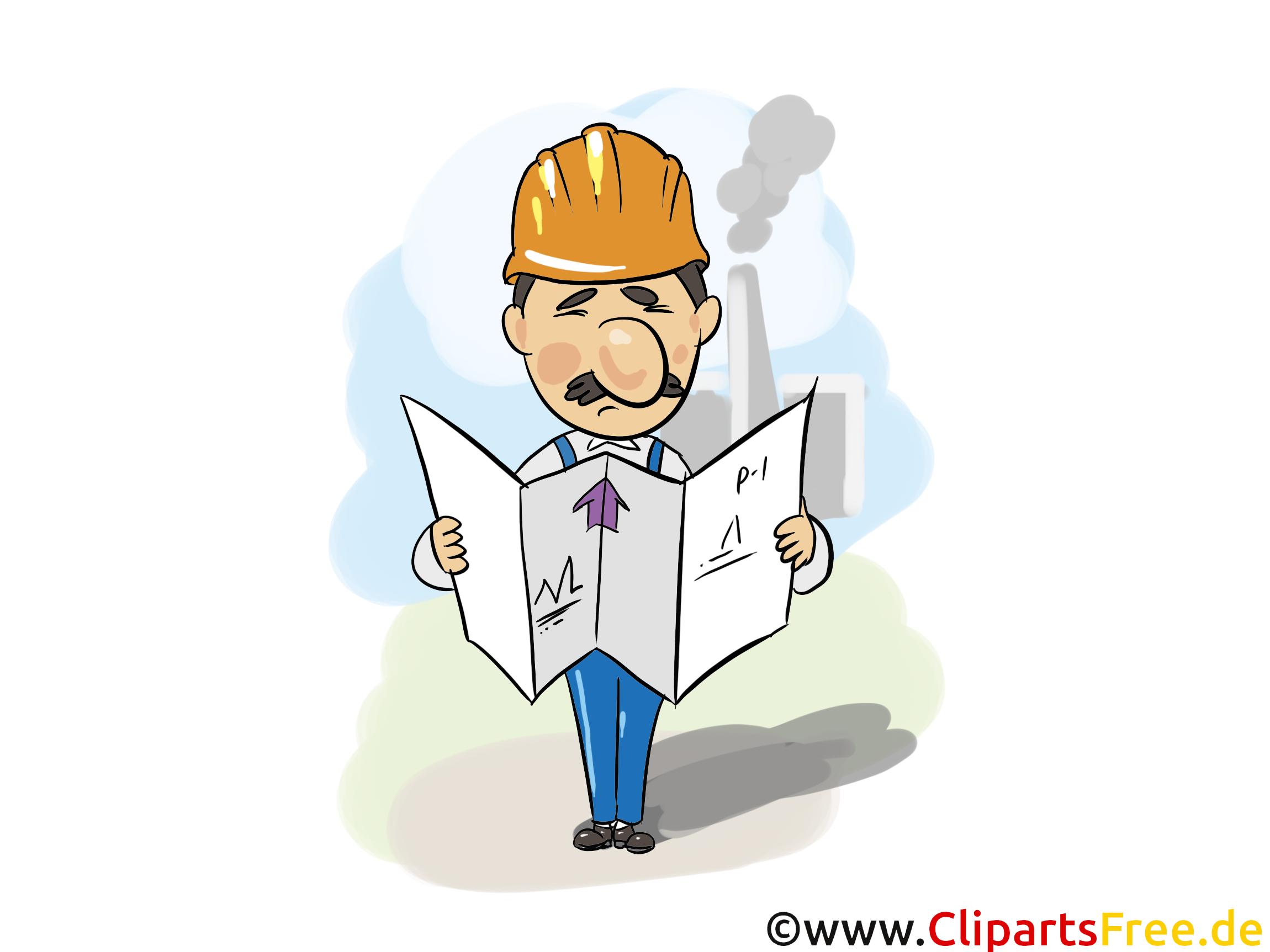 Bauingenieur Bild - Industrie Bilder, Wirtschaft Illustrationen, Grafiken, Cliparts