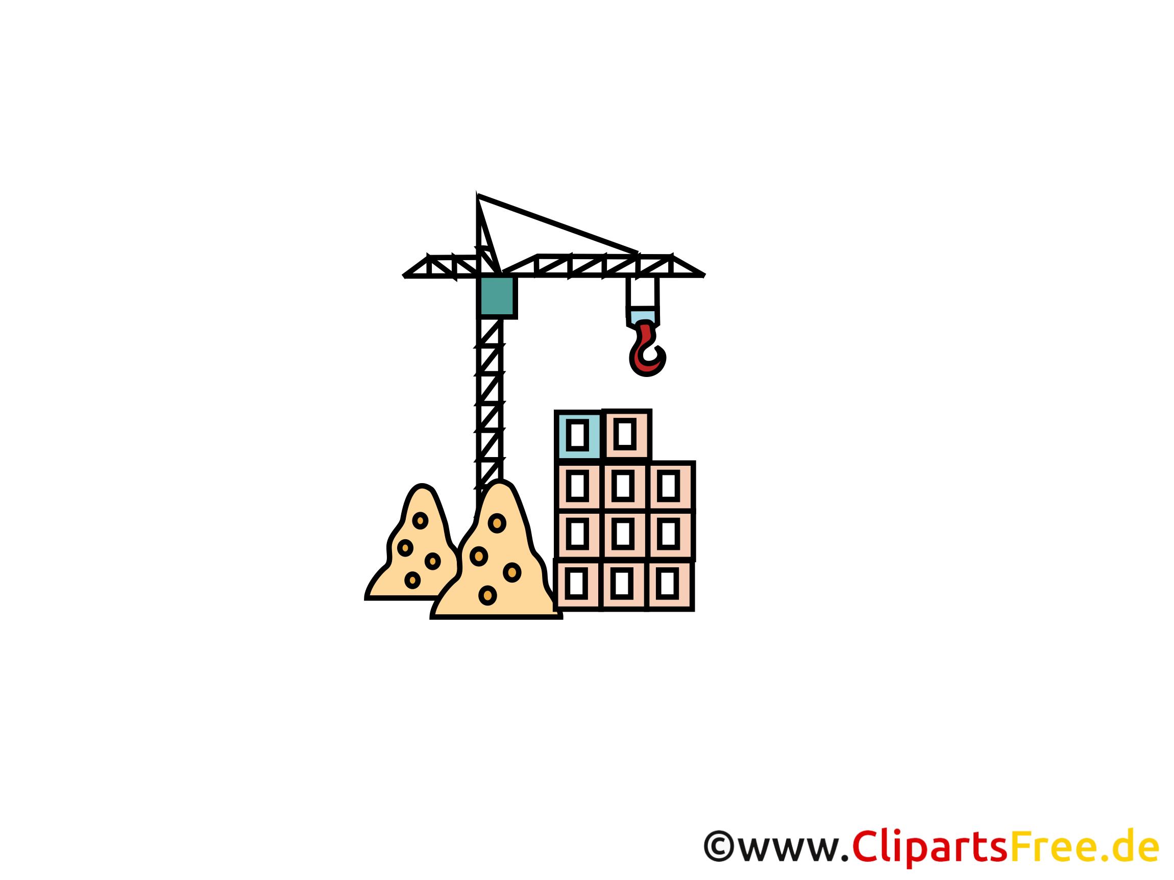 Baukran Clipart, Bild, Cartoon, Grafik gratis