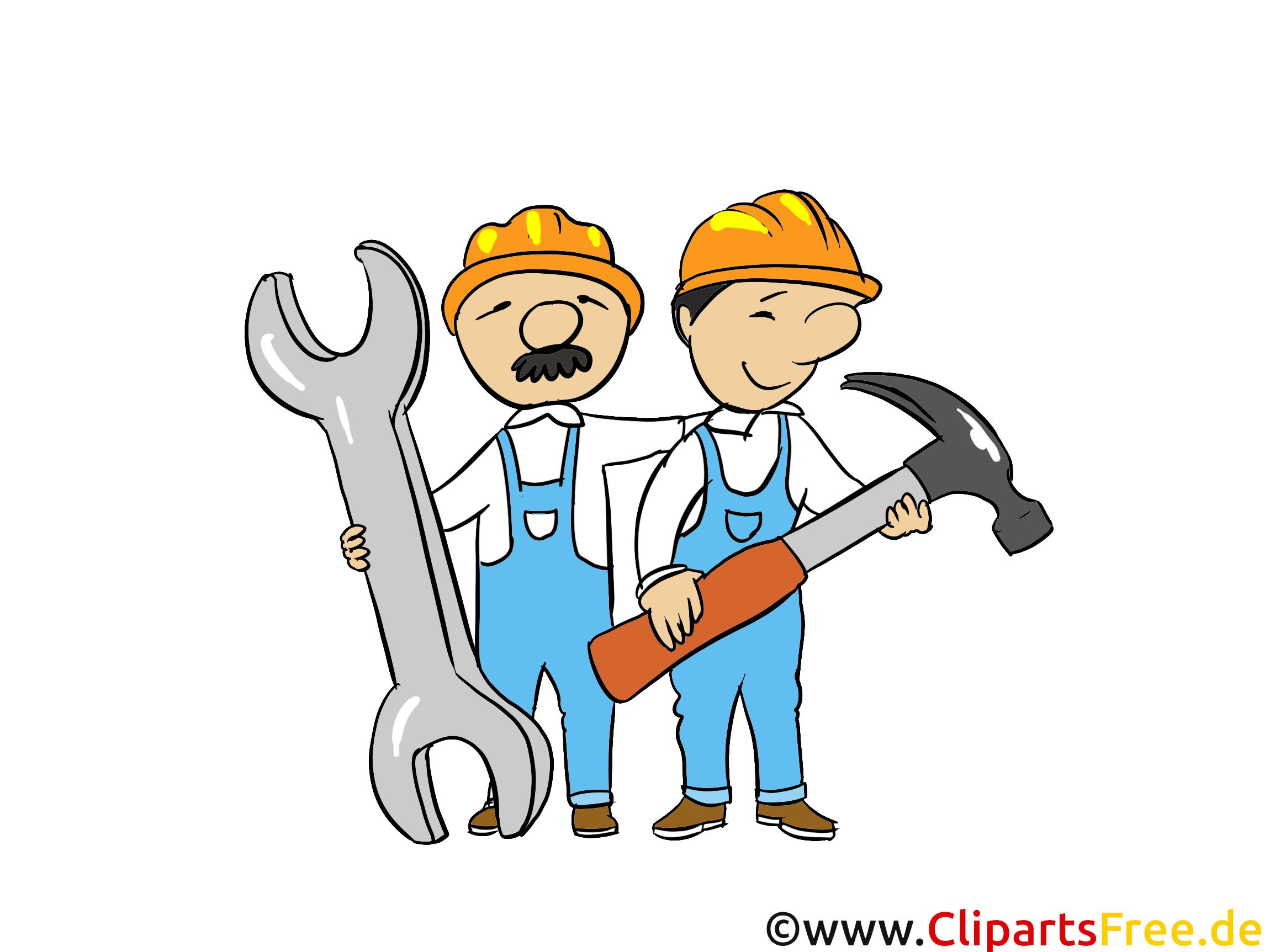 Handwerker clipart kostenlos  Handwerker - Industrie Bilder, Wirtschaft Illustrationen, Business ...