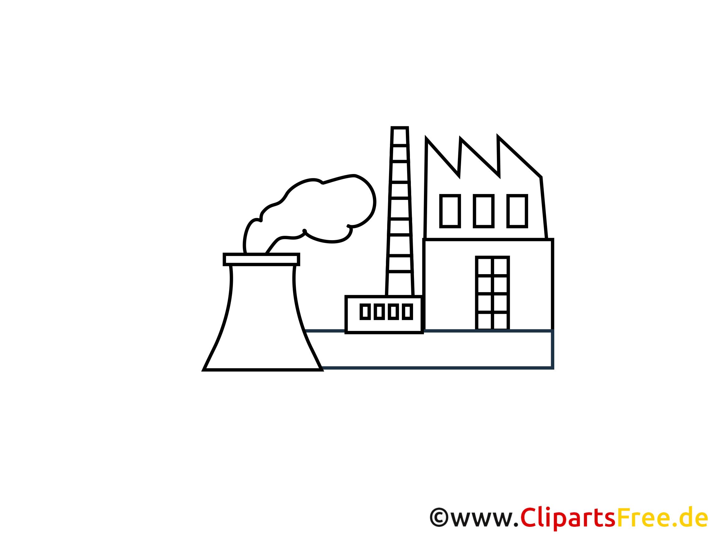 Industriegebiet Zeichnung, Grafik, Clipart, Bild