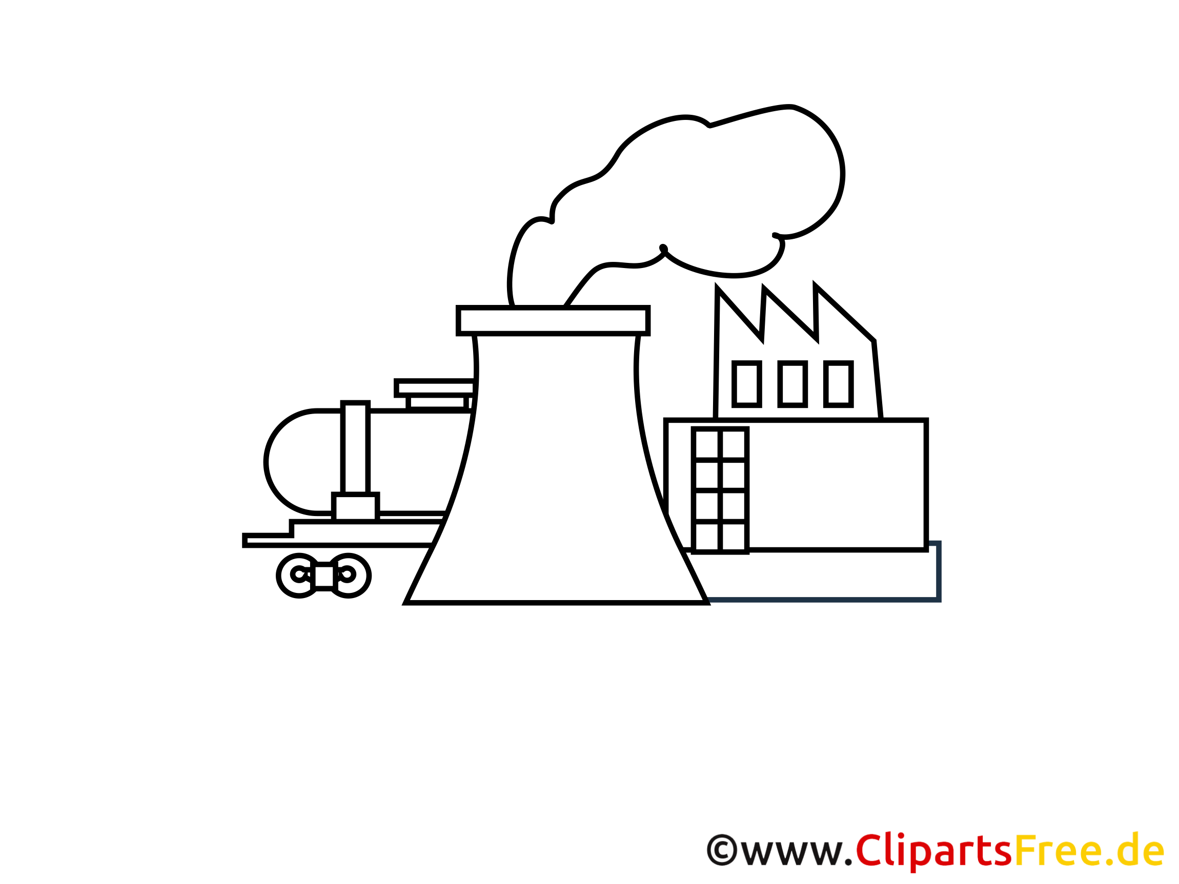 Industry Clip Art black and white