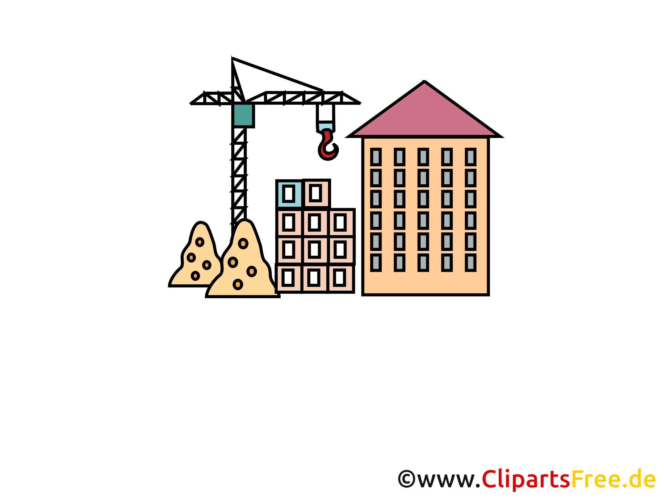 Hausbau zeichnung  Neubau, Hausbau Clipart, Cartoon, Bild, Grafik