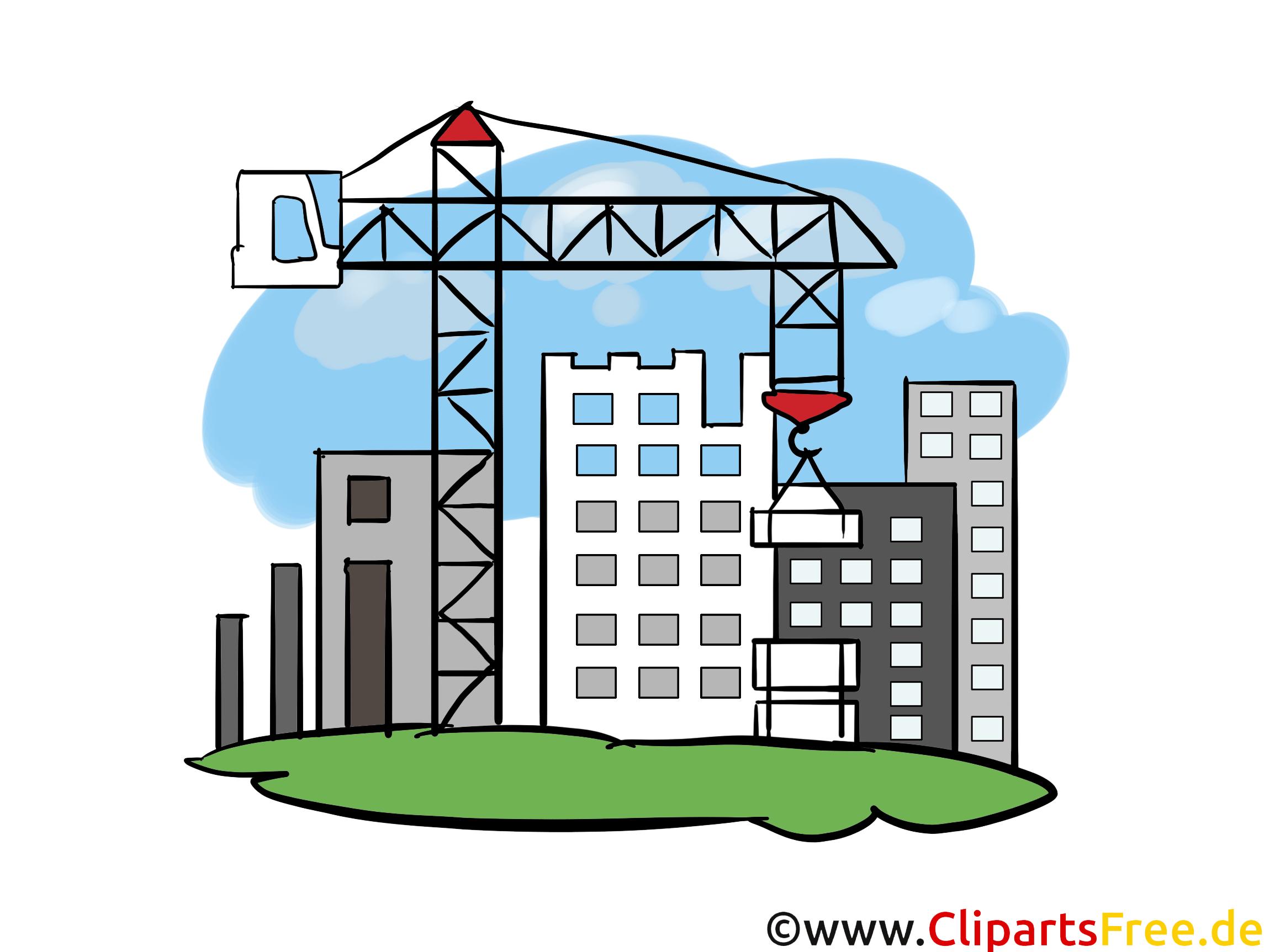 Neubaugebiet, Baustelle, Wohnungen - Industrie Cliparts, Wirtschaft Bilder, Grafiken, Illustrationen