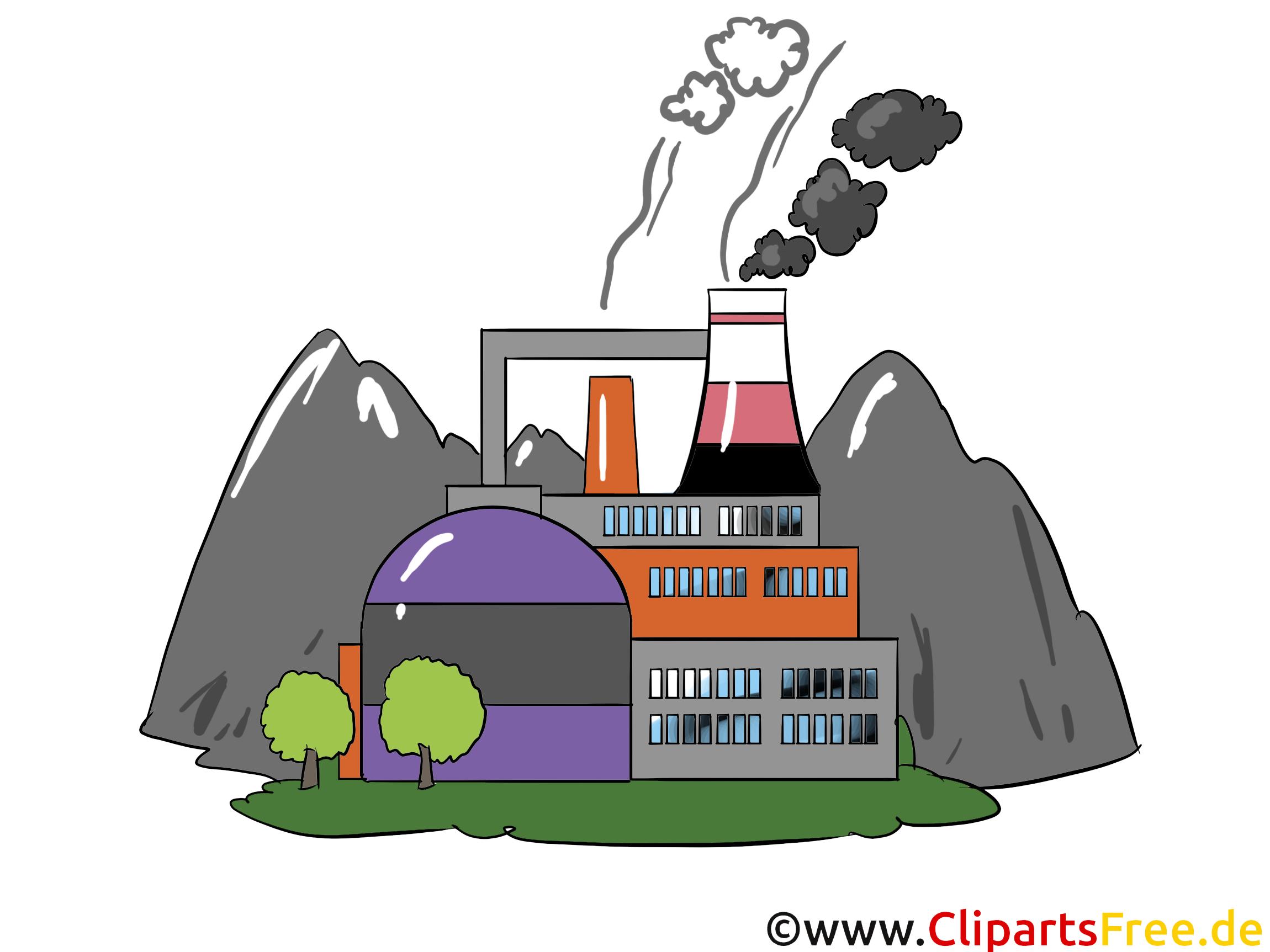 Werk, Fabrik - Industrie Cliparts, Wirtschaft Bilder, Business Grafiken, Illustrationen