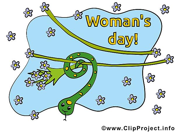 女性の日カード、クリップアート、絵