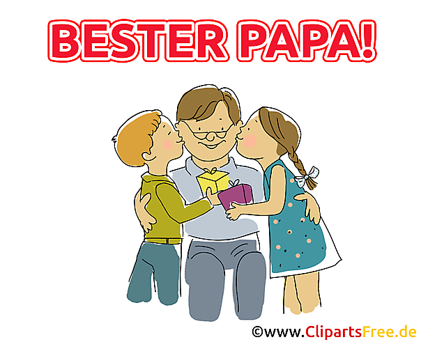 Geschenk voor papa - Vaderdag Clipart