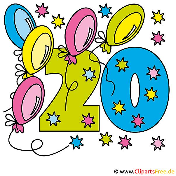 20 Anniversaries Anniversary  - 無料クリップアート