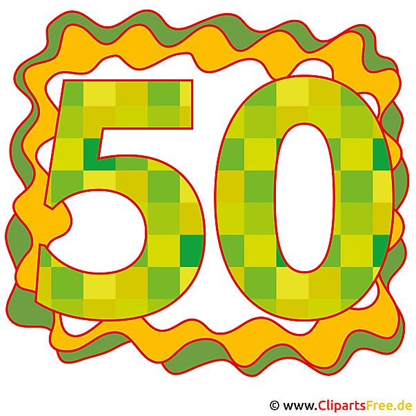 50Jubläum画像、グリーティングカード、クリップアート