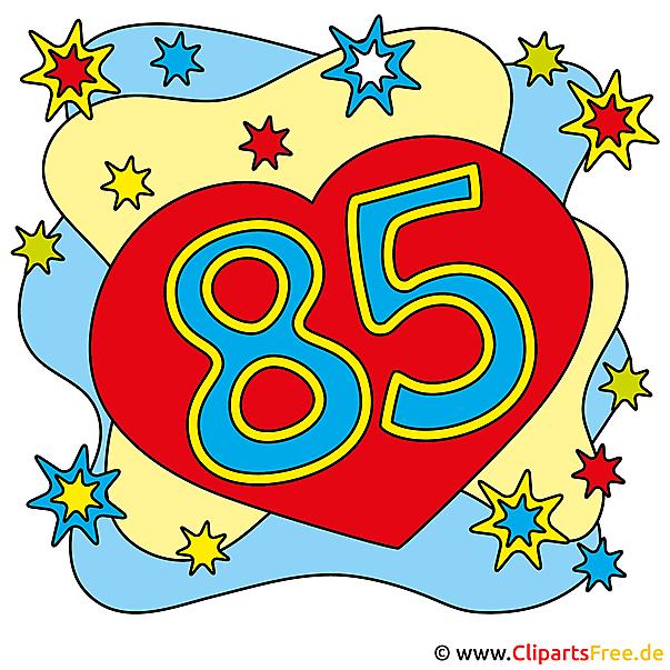 85誕生日カード無料