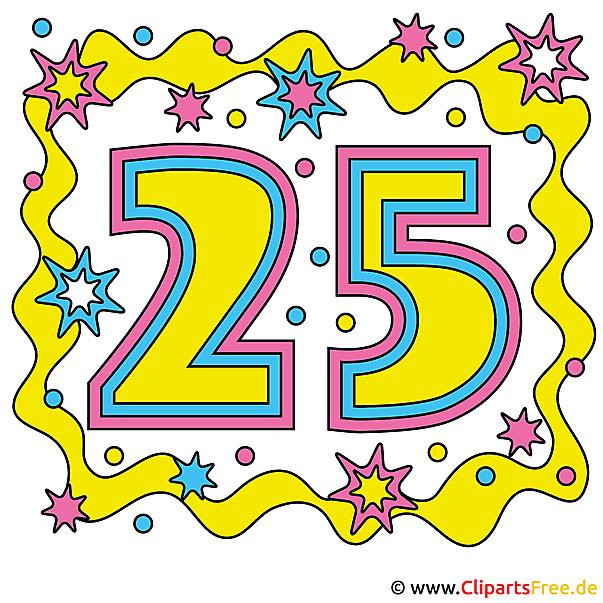 einladung zum 25 jahrigen jubilaum selbst machen mit free clipart, Einladung
