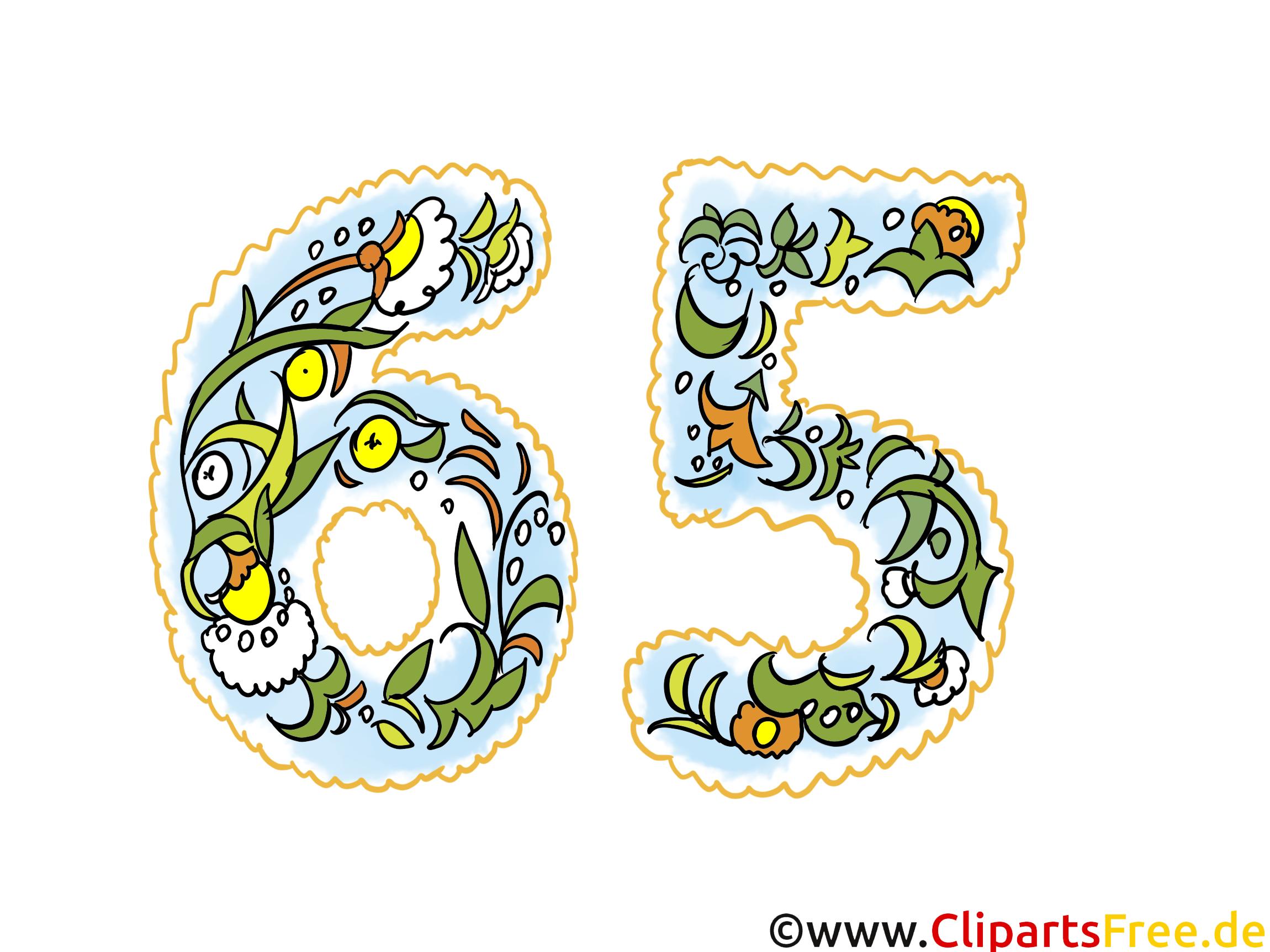 Glückwunschkarte 65 Jahre Jubiläum   Glückwunschkarte, Clipart, Bild,  Grafik Für Einladung