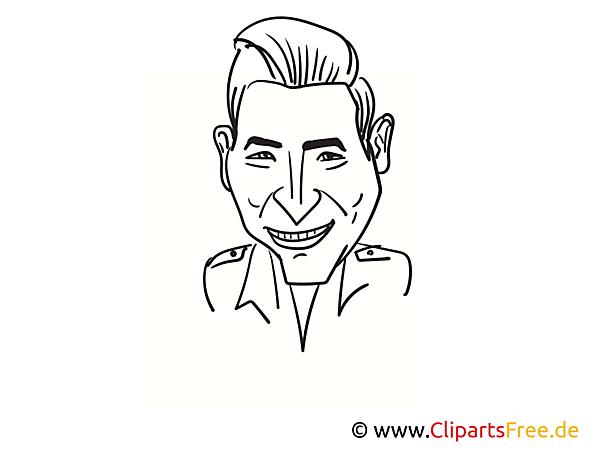 Andreas Gabalier Zeichnung, Cartoon, Karikatur