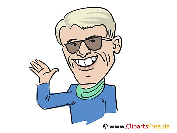 Heino Karikatur, Bild, Illustration, Comic