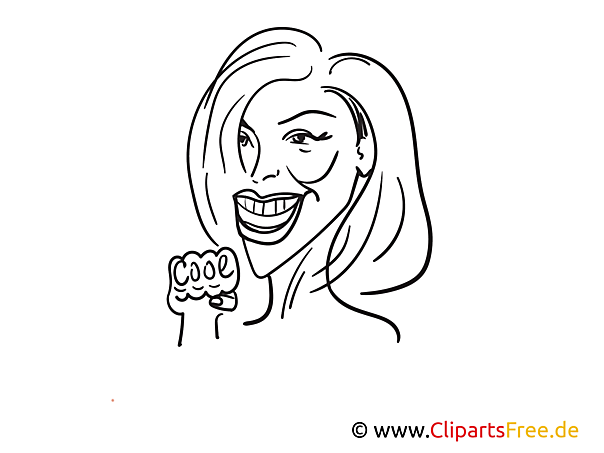 Helene Fischer Zeichnung, Cartoon, Karikatur