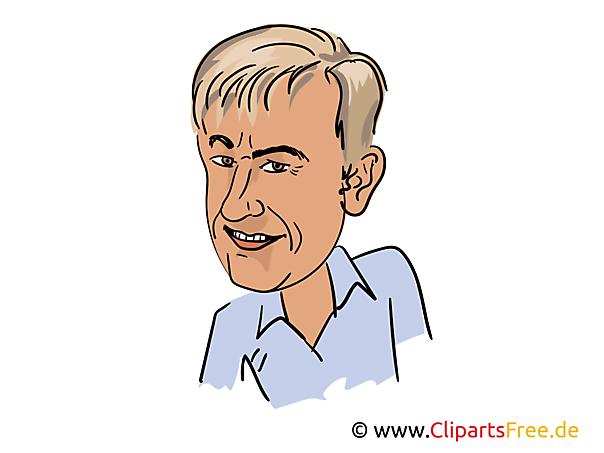 Roland Kaiser Karikatur, Bild, Illustration, Comic