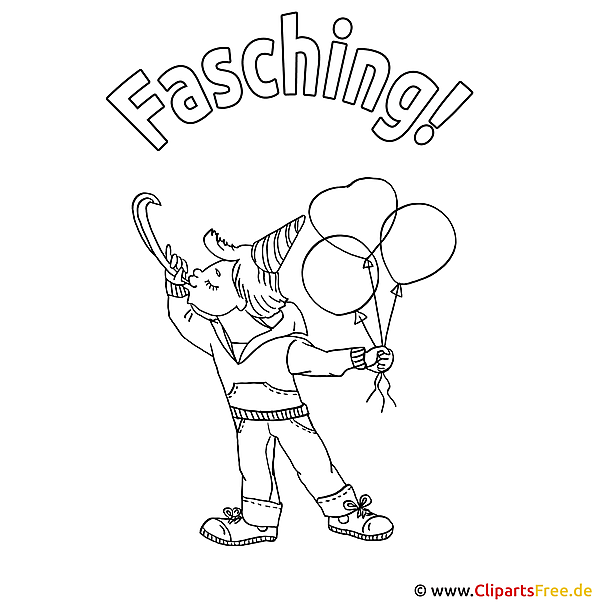 Worksheet. Fasching Ausmalbild
