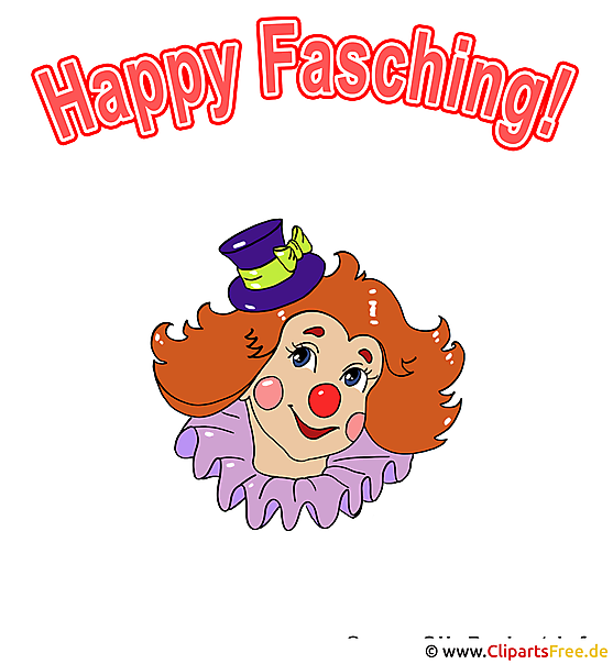 Fasching Clipart - Clown Illustration