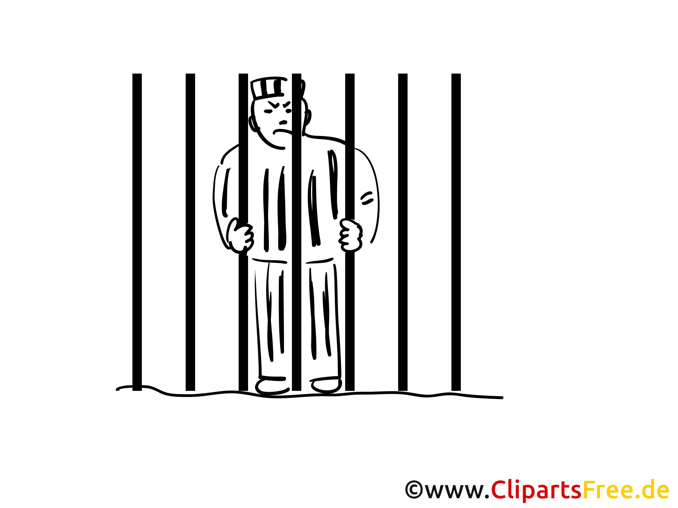 Gefängnis Clipart, Bild, Buchillustration, Grafik, Cartoon, Comic