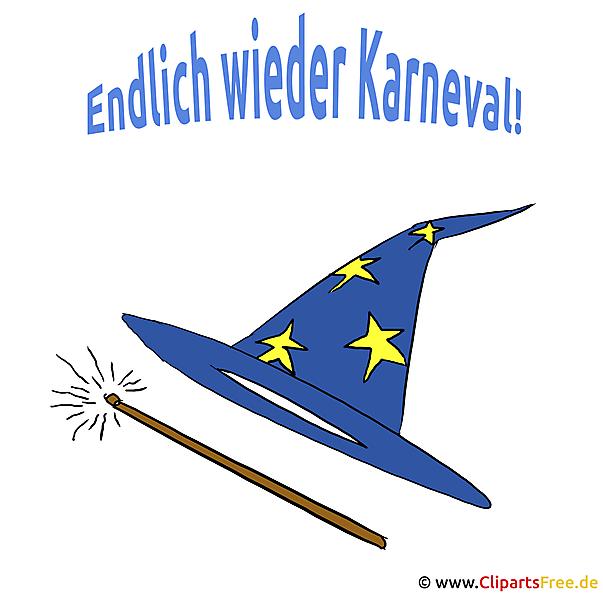 Hexenhut Clipart für Karneval