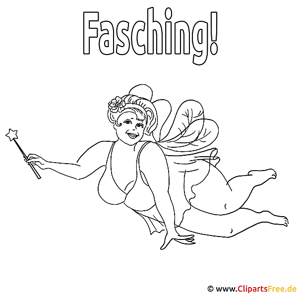 Malvorlage Fasching