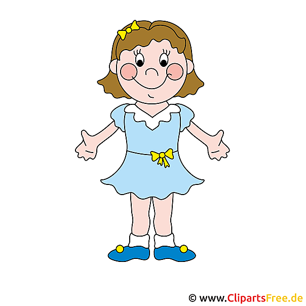 Comic Girl Clip Art gratis
