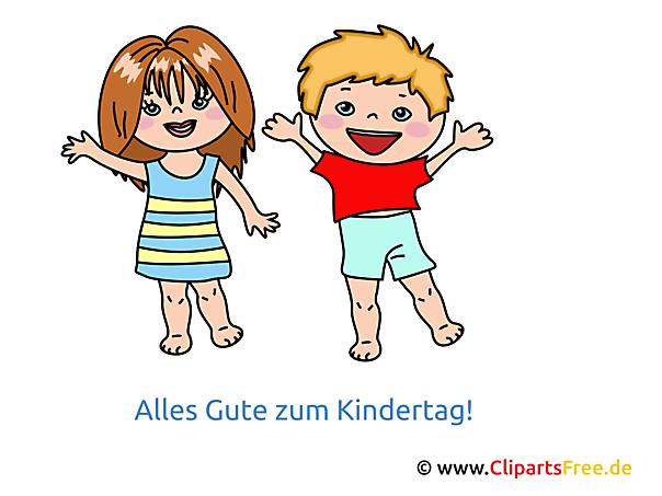 Internationaler Kindertag Bild Grusskarte Clipart