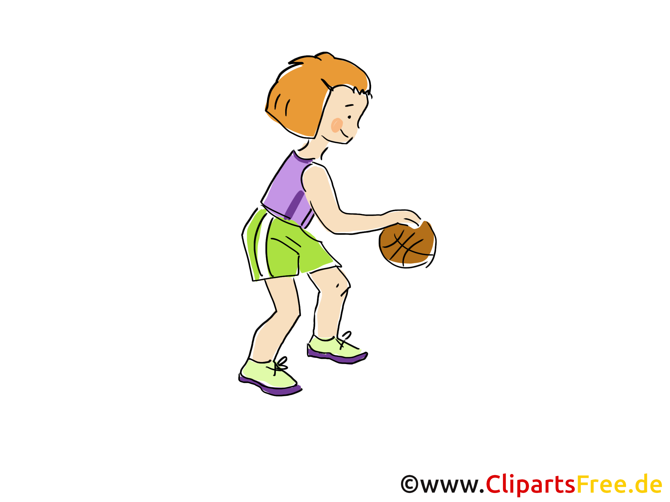 Child Playing Basketball Afbeelding, Clipart, Strip, Cartoon, Afbeelding gratis