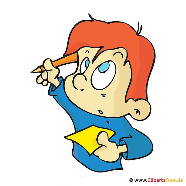 Student met opmerking Clipart, afbeelding, tekenfilm, afbeelding, illustratie