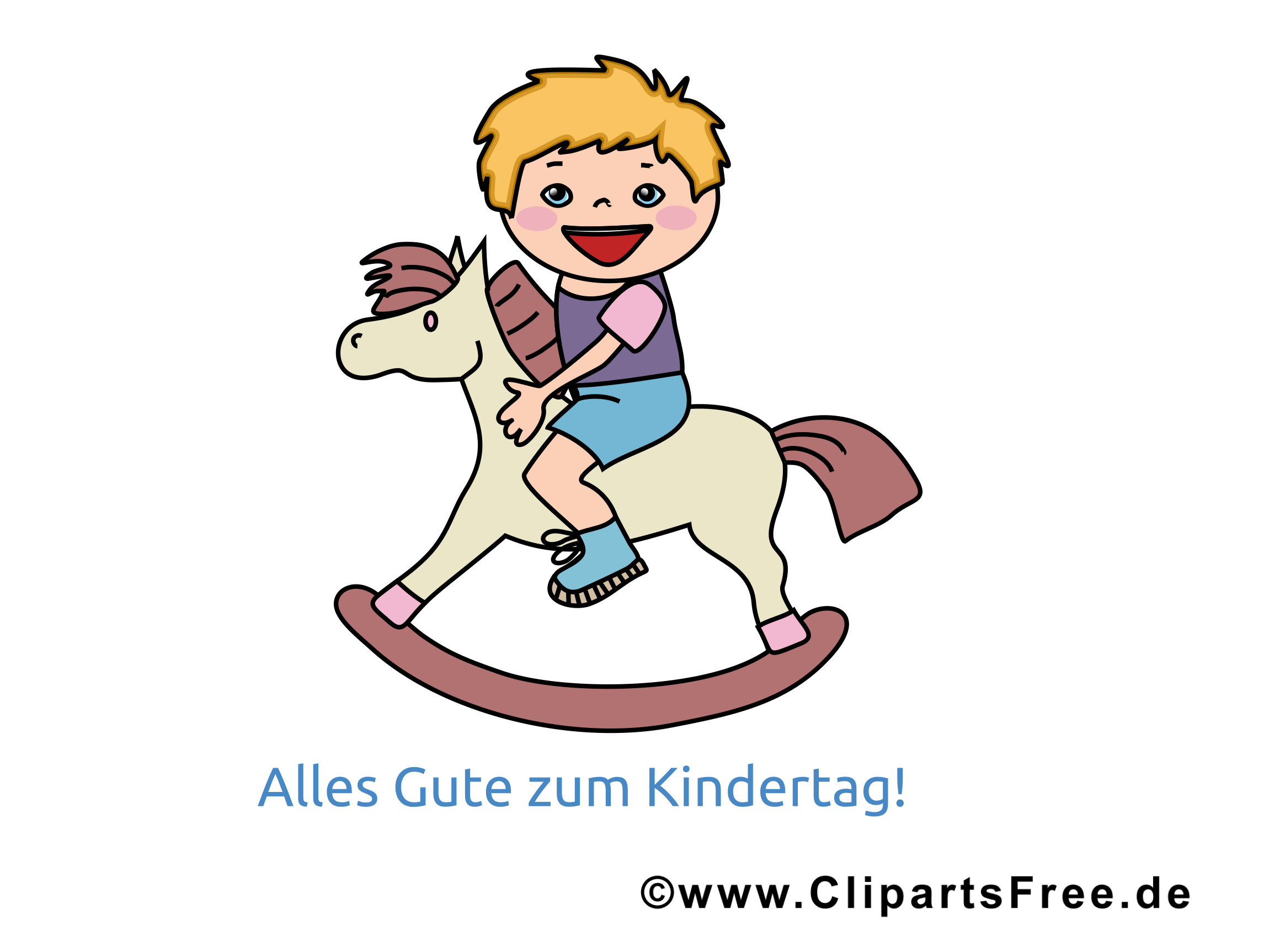 Child's Day Picture, GB Pic, Cartoon, Illustratie