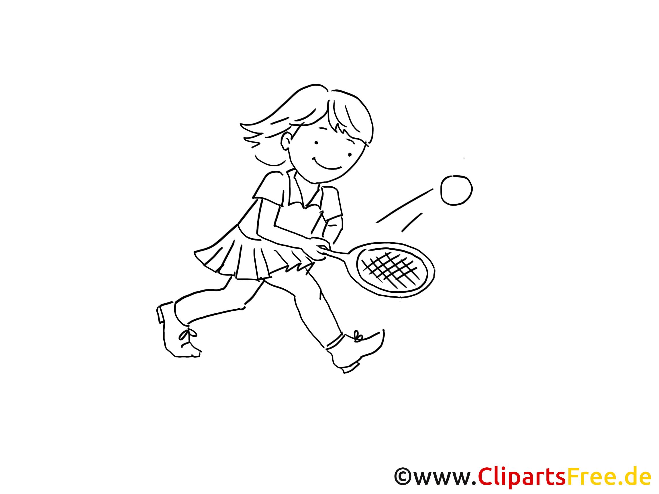 Tennis voor kinderen tekenen van zwart en wit, afbeelding, clipart, tekenfilm, tekenfilm voor tekenen